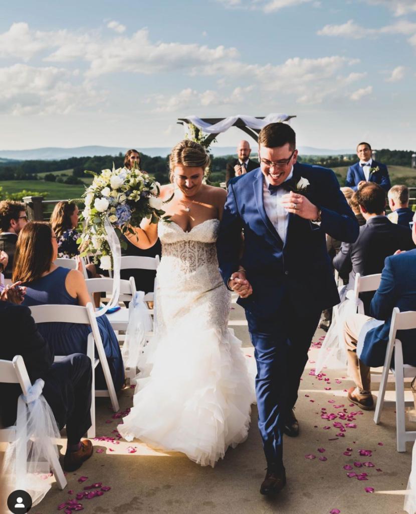 Blue Valley Vineyards wedding